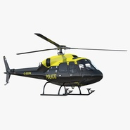 Police Aviation Eurocopter AS 355 Rigged