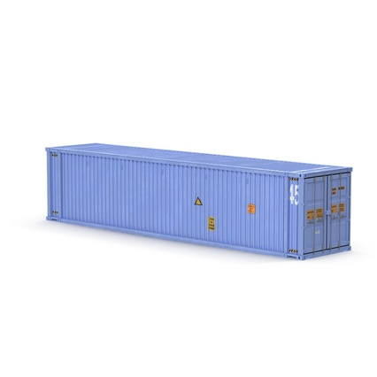 45 ft High Cube Container Blue. Render 3