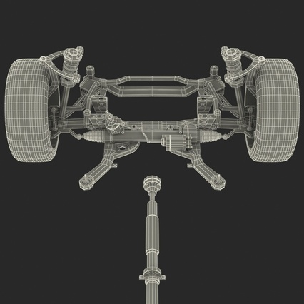Sedan Chassis. Render 64