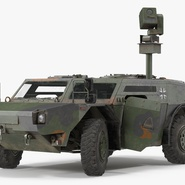 Fennek German Reconnaissance Vehicle Rigged. Preview 2