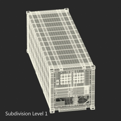 ISO Refrigerated Container. Render 27