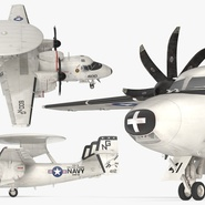 Grumman E-2 Hawkeye Tactical Early Warning Aircraft Rigged. Preview 18