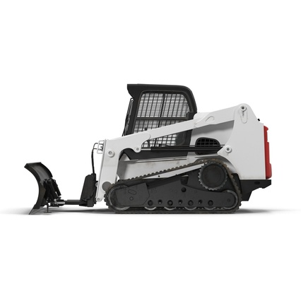 Compact Tracked Loader Bobcat With Blade. Render 3
