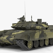 T72 Main Battle Tank Camo Rigged. Preview 2