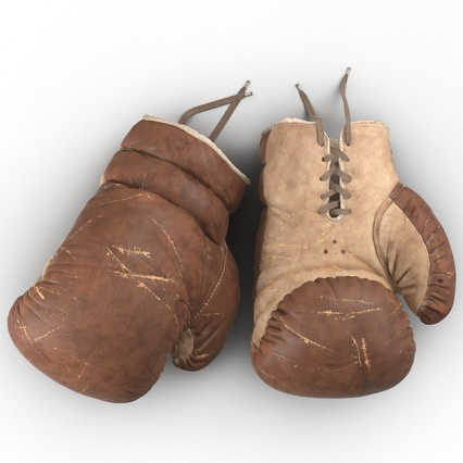 Old Leather Boxing Glove(1). Render 9