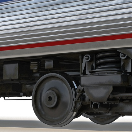 Railroad Amtrak Passenger Car 2. Render 39