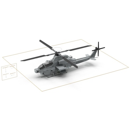 Attack Helicopter Bell AH 1Z Viper Rigged. Render 82