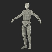 Male Crash Test Dummy Rigged for Cinema 4D. Preview 44