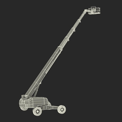Telescopic Boom Lift Generic 4 Pose 2. Render 73