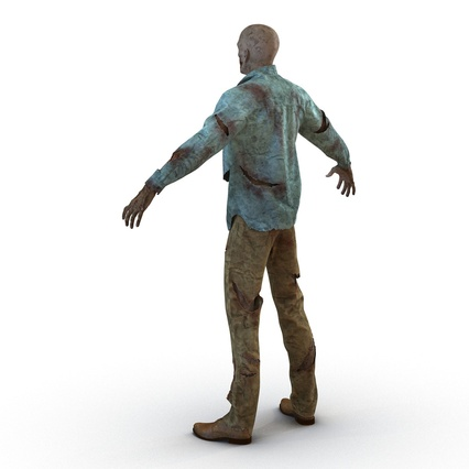 Zombie Rigged for Cinema 4D. Render 17