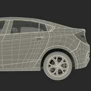 Generic Hybrid Car Rigged. Preview 99