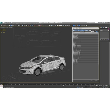 Generic Hybrid Car Rigged. Render 74