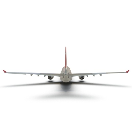 Jet Airliner Airbus A330-300 Northwest Airlines Rigged. Render 23
