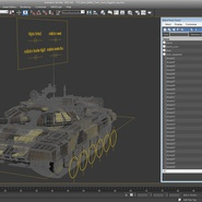 T72 Main Battle Tank Camo Rigged. Preview 22