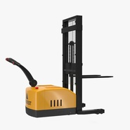Electric Walkie Stacker Rigged Yellow