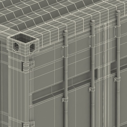 40 ft High Cube Container Green. Render 53