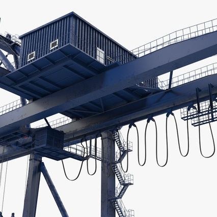 Container Crane Blue. Render 23