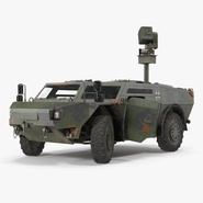Fennek German Reconnaissance Vehicle Rigged. Preview 1