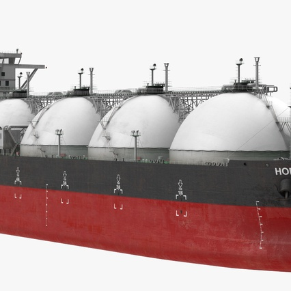 Gas Carrier Ship. Render 8