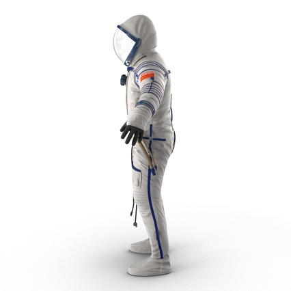 Russian Space Suit Sokol KV2 Rigged. Render 15