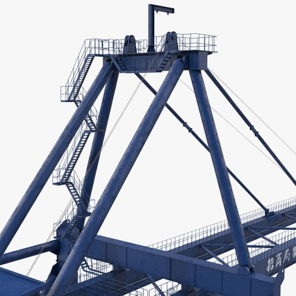 Container Crane Blue. Render 27