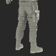 SWAT Man Mediterranean Rigged for Cinema 4D. Preview 59