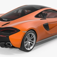 Sports Car McLaren 570GT 2017 Simple Interior. Preview 7