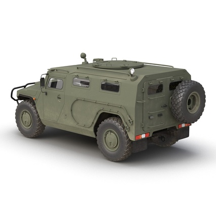 Russian Mobility Vehicle GAZ Tigr M Rigged. Render 11