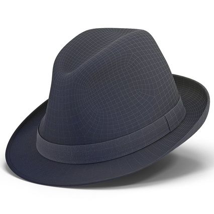 Fedora Hat Blue. Render 3