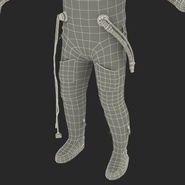 Russian Astronaut Wearing Space Suit Sokol KV2 Rigged for Maya. Preview 65