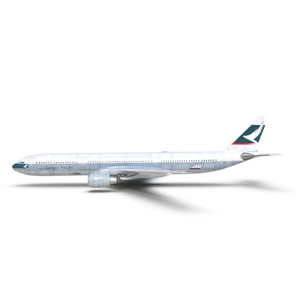 Jet Airliner Airbus A330-300 Cathay Pacific Rigged. Render 9