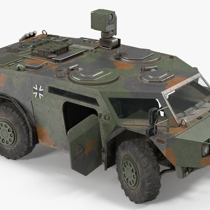 Fennek German Reconnaissance Vehicle Rigged. Render 15