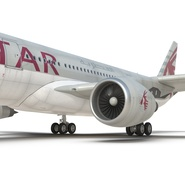 Jet Airliner Airbus A330-200 Qatar. Preview 42