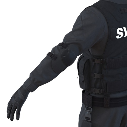 SWAT Man Mediterranean Rigged for Maya. Render 29