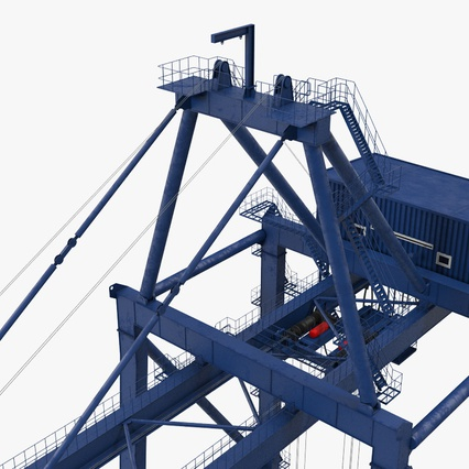 Container Crane Blue. Render 20
