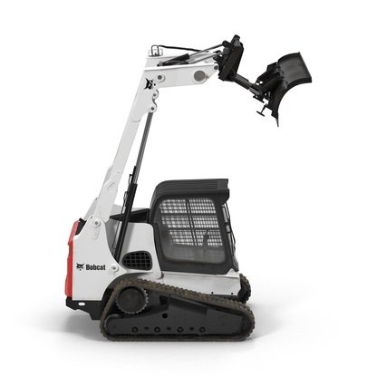 Compact Tracked Loader Bobcat With Blade. Render 4