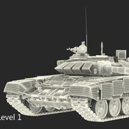 T72 Main Battle Tank Camo Rigged. Preview 18