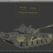 T72 Main Battle Tank Camo Rigged. Preview 19