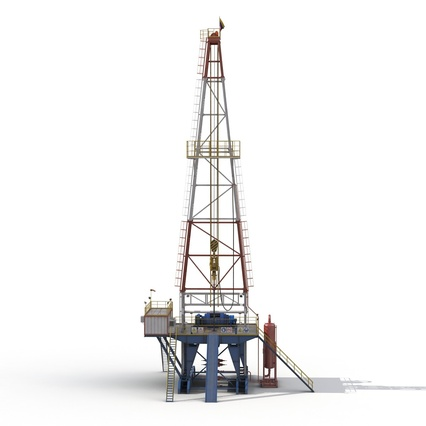 Fracking Gas Platform. Render 5