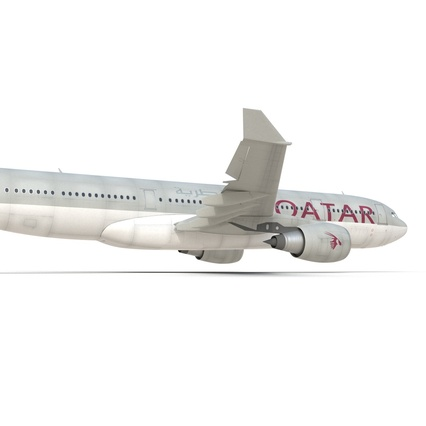 Jet Airliner Airbus A330-200 Qatar. Render 32