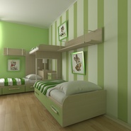 Childrens Bedroom. Preview 8
