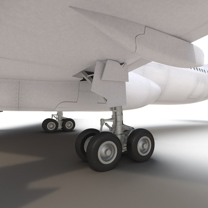 Jet Airliner Airbus A330-300 Emirates Rigged. Render 50
