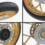 Sport Motorcycle Back Wheel. Preview 9