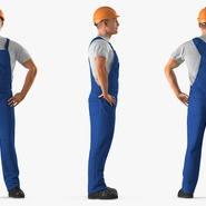 Construction Worker with Hardhat Standing Pose. Preview 5