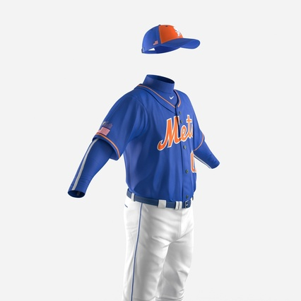 Baseball Player Outfit Mets 2. Render 16