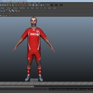 Soccer Player Rigged for Maya. Preview 35
