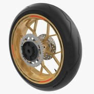 Sport Motorcycle Back Wheel. Preview 2