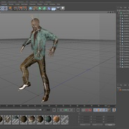 Zombie Rigged for Cinema 4D. Preview 54