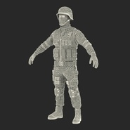 SWAT Man Mediterranean Rigged for Cinema 4D. Preview 49