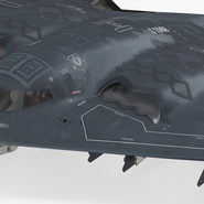 Stealth Bomber B-2 Spirit Rigged. Preview 13